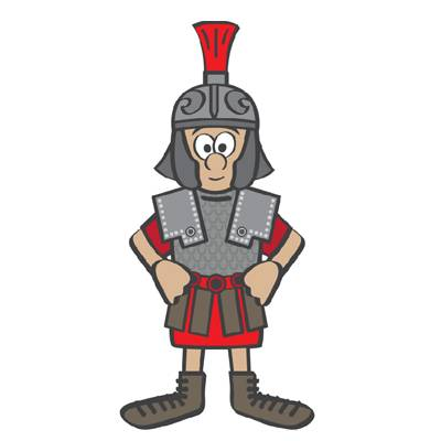 Cartoon of Victor the cavalryman