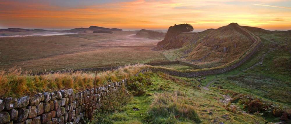 Housesteads Crags on Hadrian's Wall