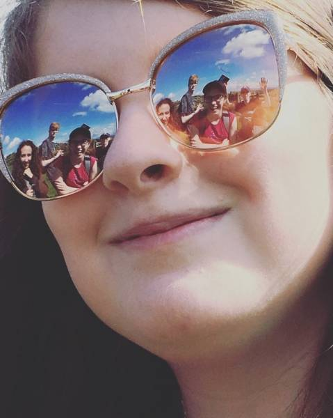 Tullie House Youth Panel reflected in sunglasses