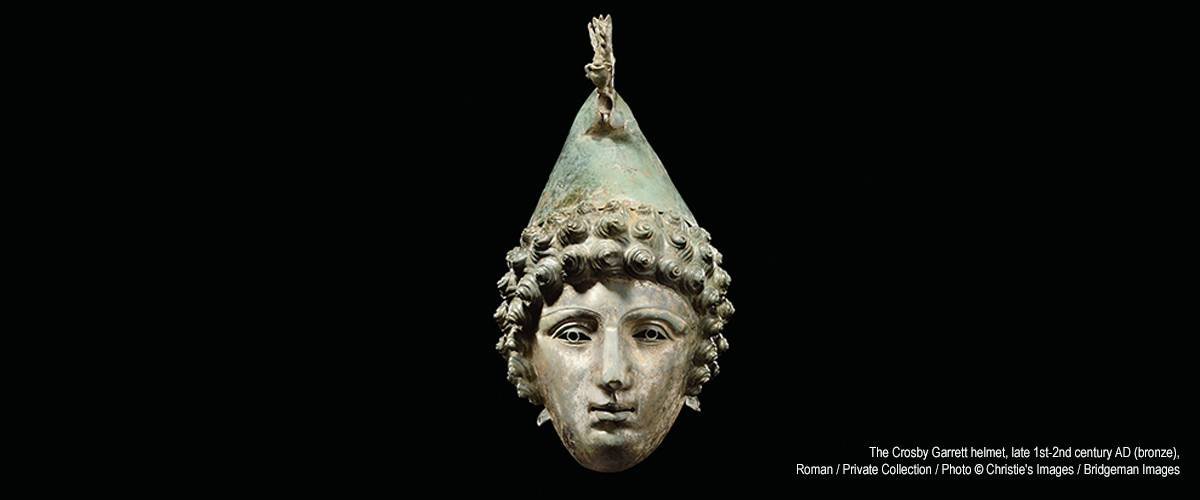 The Crosby Garrett helmet late 1st-2nd century AD (bronze) Roman  Private Collection  Photo  Christie's Images  Bridgeman Images