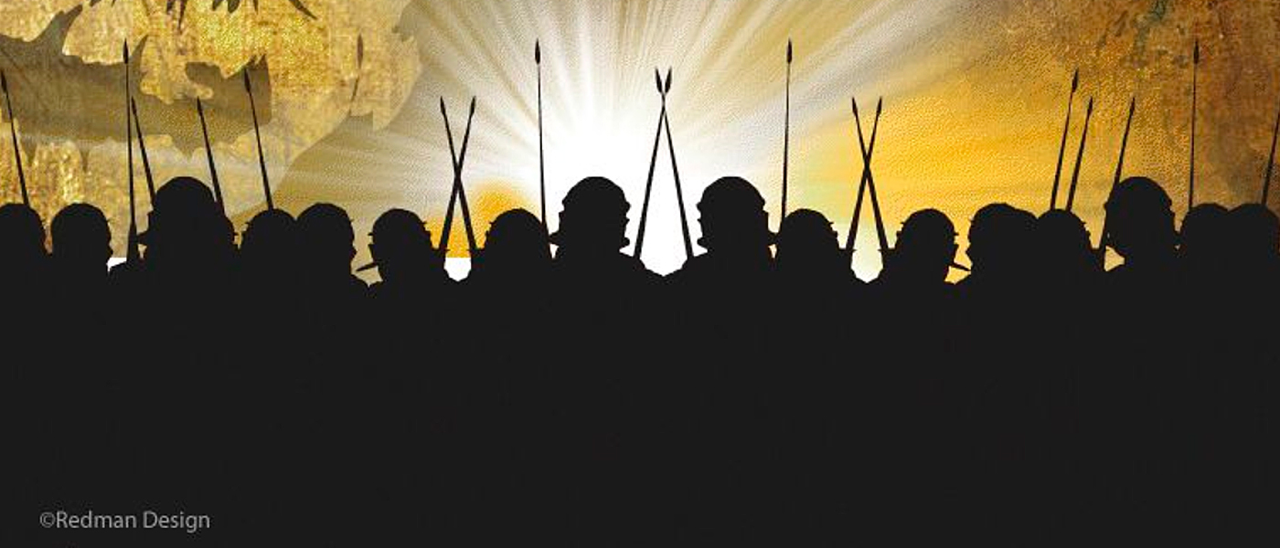 Campaign! Make an Impact graphic of Roman soldier silhouettes
