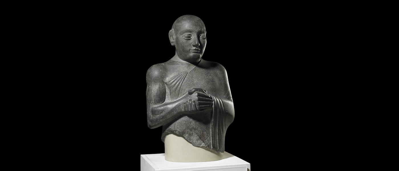 Statue of King Gudea; dolerite; Tello, Iraq; 2130BC © The Trustees of the British Museum