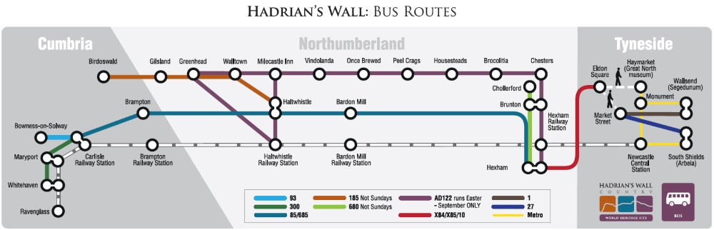 Hadrian's Wall Bus routes