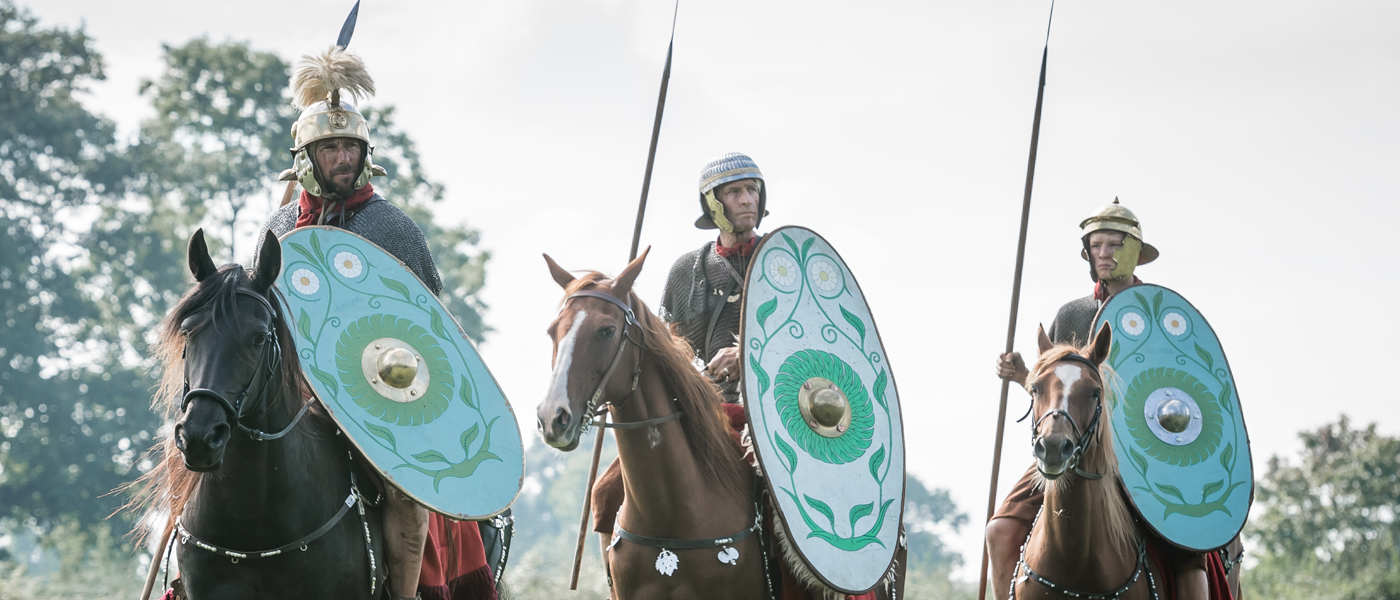 Three Roman cavalrymen copyright Ben Blackall