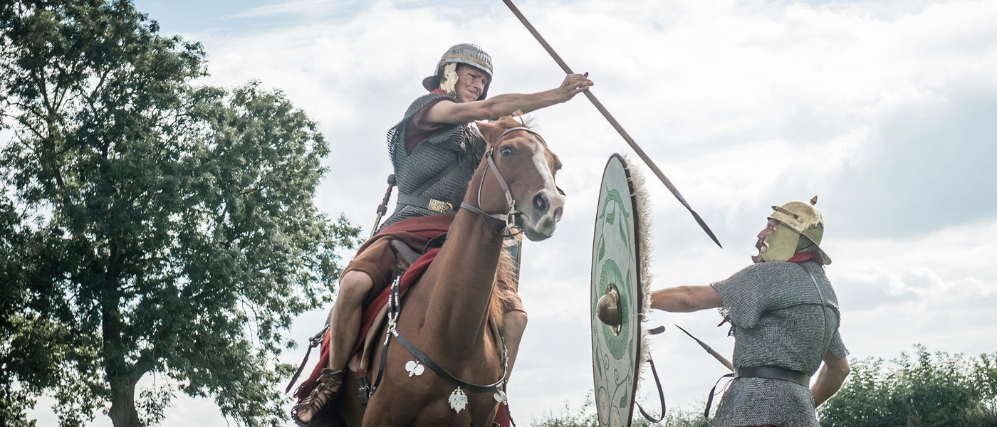 Cavalry training with spears and shields - copyright Ben Blackall