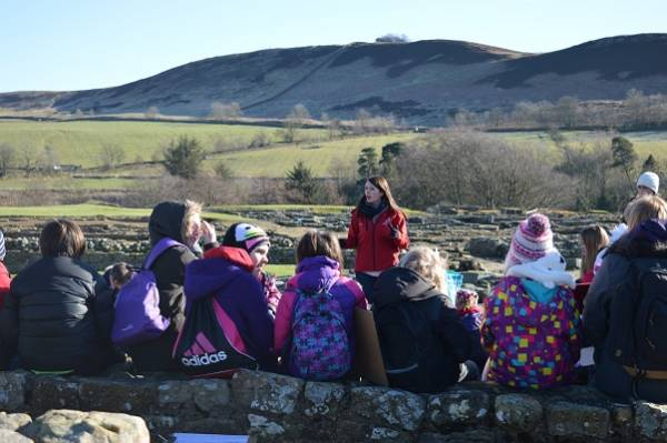Education officer giving at talk at Vindolanda