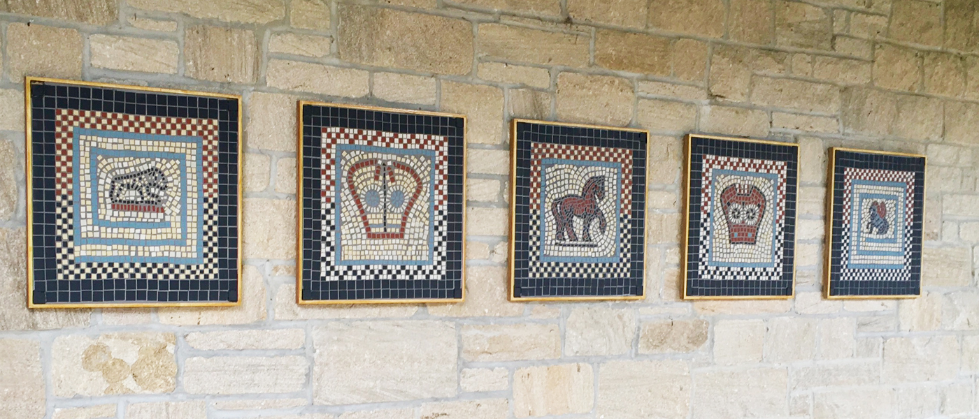 Mosaic display at Vindolanda