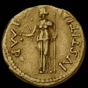Coin of Aureus of Vespasian, reverse