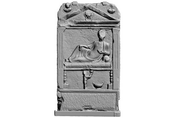 the Tombstone of Victor. Arbeia Roman Fort and Museum (copyright NU Digital Heritage, Newcastle University.)