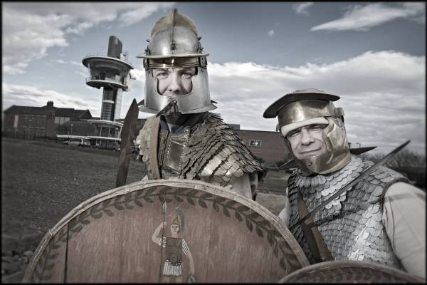 Roman soldiers at Segedunum