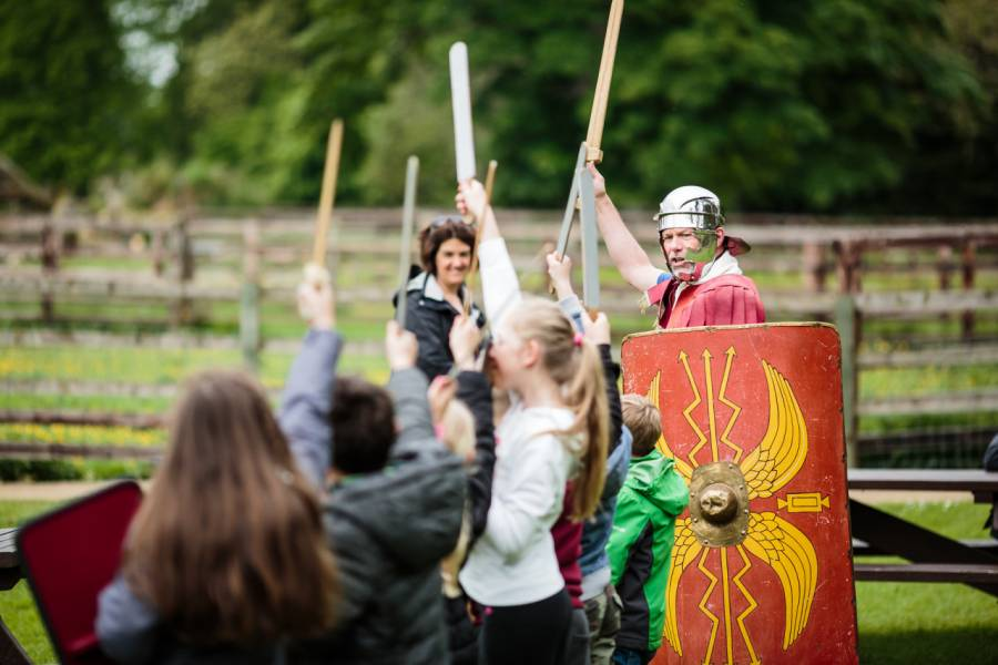 Roman Soldier at Chesters Roman Fort