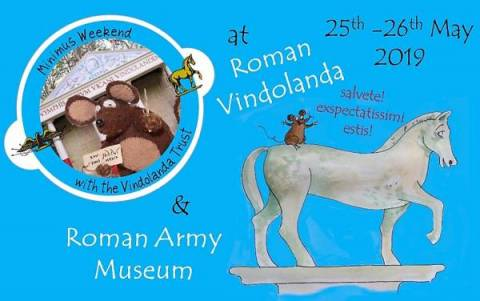 Minimus Riding the Vindolanda Horse