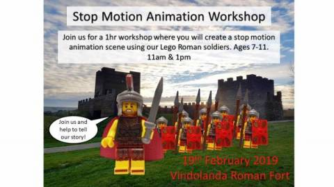 Lego Romans at Vindolanda