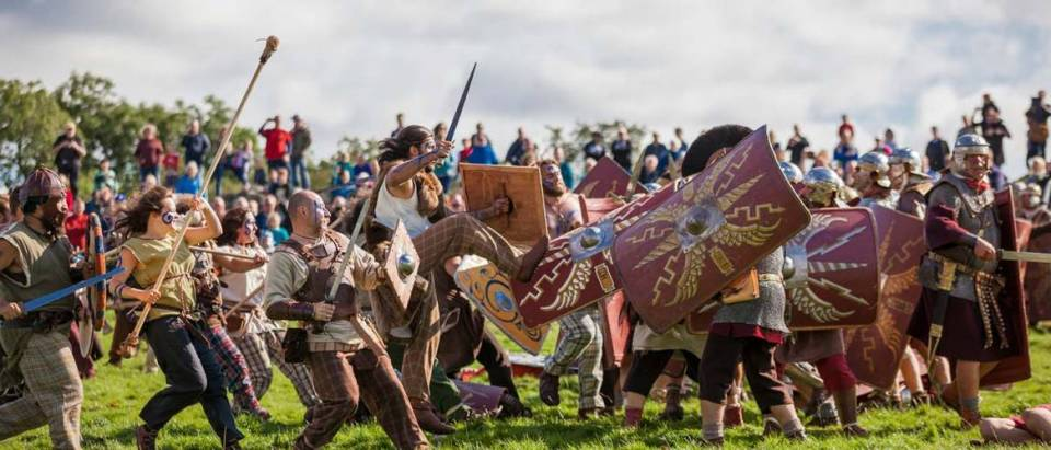 Romans & Barbarians battle re-enactment